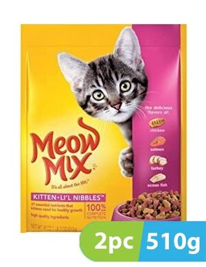 Meow Mix Kitten Lil nibbles 2pc x 510gm