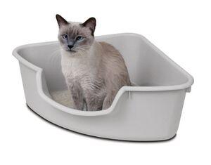 Cat litter box corner