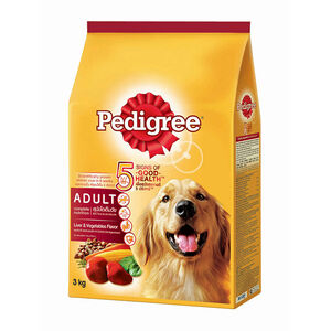Pedigree Liver & Vegetables Flavor Adult Dog Food 3kg