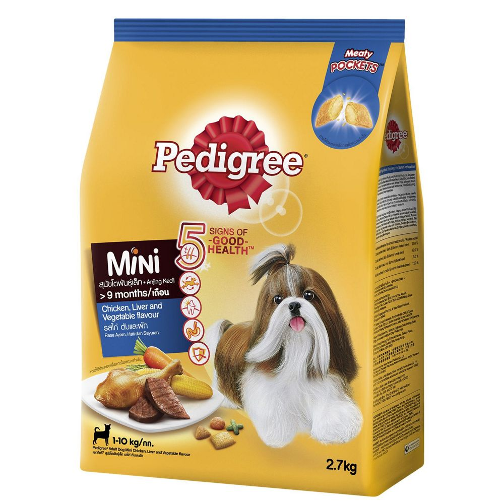 Pedigree Mini Chicken Liver Vegetables Veg 2.7Kg