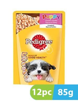 Pedigree Puppy Chicken Chunks in Gravy 8pc x 130gm