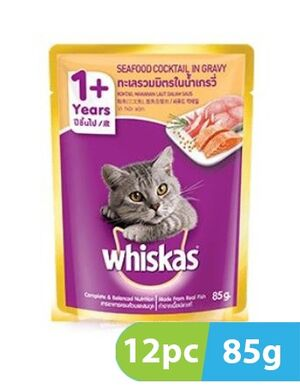 Whiskas Adult Seafood Cocktail In Gravy 12pc x 85gm