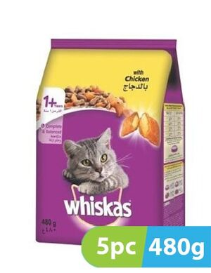 Whiskas chicken 5pc x 480gm
