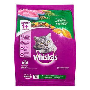 Whiskas Tuna flavor perisa tuna 4pc x 480gm