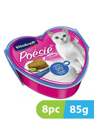 Vitakraft poesi plaice in egg casing  8pc x 85gm -  Cats product