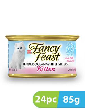 Purina Fancy Feast Kitten Classic Pate Tender Ocean Whitefish 24pc x 85g