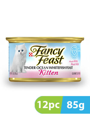 Purina Fancy Feast Kitten Classic Pate Tender Ocean Whitefish 12pc x 85g