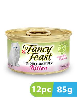 Purina Fancy Feast Kitten Classic Pate Tender Turkey 12pc x 85g
