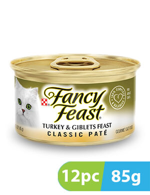 Purina Fancy Feast Classic Pate Turkey & Giblets 12pc x 85g