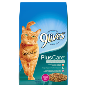 9Lives Plus Care Dry Cat Food 1.43 kg