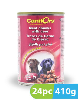 Canifors Dog Food Meat with Deer 24pc x 410gm