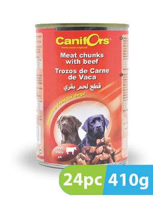 Canifors Dog Food Meat with Beef 24pc x 410gm