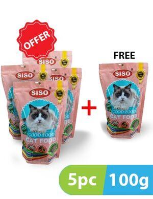 Siso Fish & Beef Flavors 100g (4+1 free)