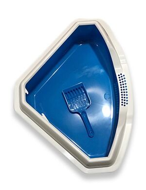 Cat litter box corner Blue
