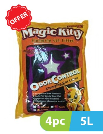 Mango Magic Kitty Clumping cat Litter 4pc x 5L