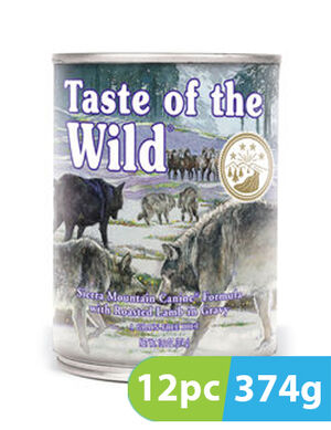 Taste of the Wild Sierra Mountain Cans 12pc x 374g
