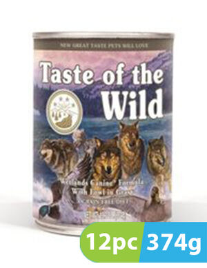 Taste of the Wild Wetlands Wild Fowl Cans 12pc x 374g