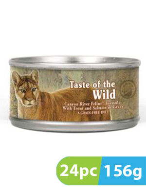 Taste of the Wild Canyon River Feline Cans 24pc x 156g