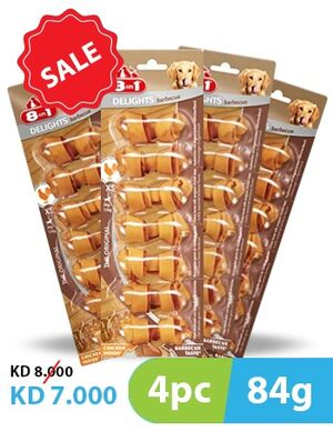 8in1 Barbecue Delights 4pc x 84gm