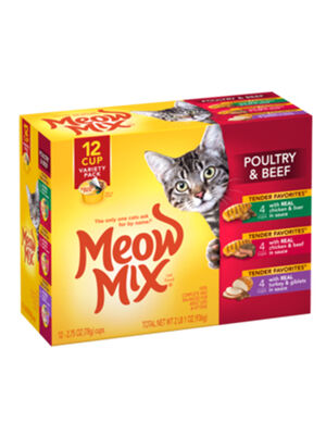 Meow Mix Tender Favorites Poultry & Beef Variety Pack 936gm