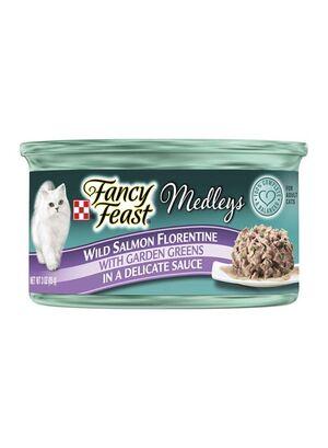 Purina Fancy Feast Medleys Florentine Salmon 12pc x 85g