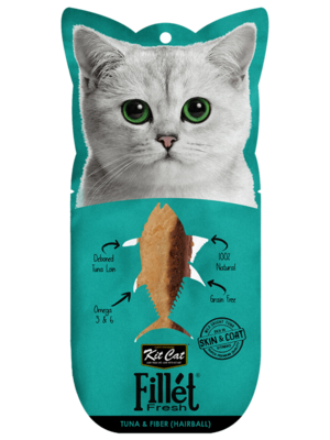 Kit Cat Tuna & Fiber (Hairball) Fillet 30g