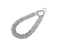 Triple Row Choke Collar w Key-Ring 2mm x 40cm