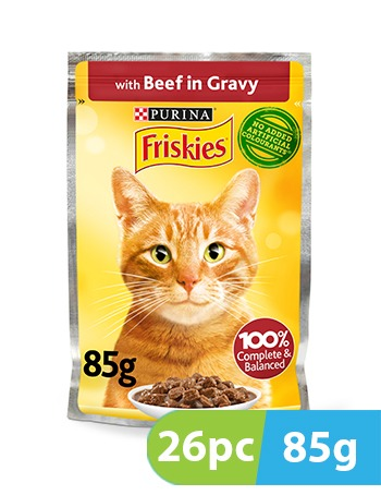 Purina Friskies Cat CiG Beef Pouch 26pc x 85g