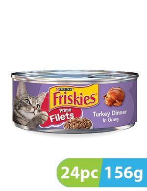 Purina Friskies Prime Filet Turkey Dinner 24pc x 156g