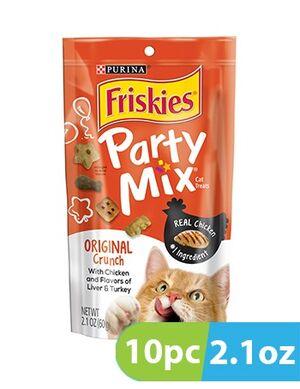 Purina Friskies Party Mix Original 10pc x 2.1oz