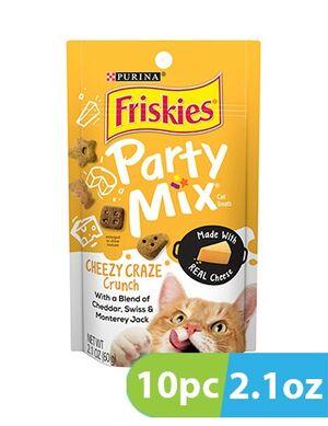 Purina Friskies Party Mix  Cheezy Crunch 10pc x 2.1oz