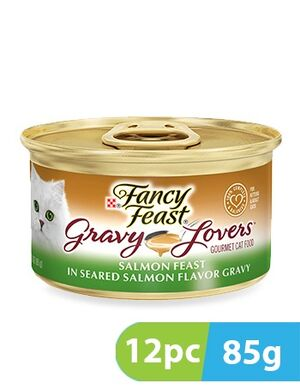 Purina Fancy Feast Gravy lovers in seared salmon feast 12pc x 85gm
