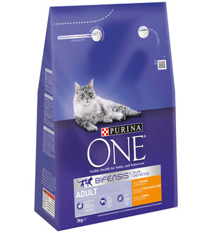 Purina One Adult Cat Chicken and Whole Grains, 3 kg -  Cats product