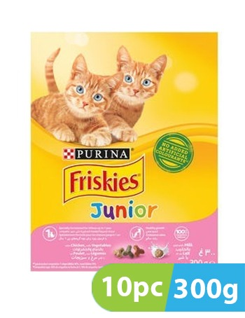 PURINA FRISKIES JUNIOR WITH CHICKEN MILK AND VEGETABLES 10pc x 300 G