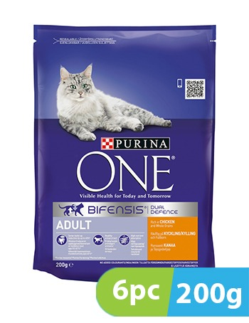 Purina One Adult Cat Chicken and Whole Grains 6pc x 200g