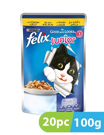 Purina FELIX JNR Chicken 20pc x 100g
