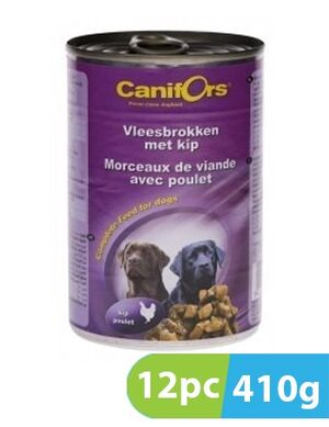 Canifors Dog Food Meat with Chicken 12pc x 410gm