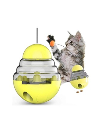 Tumbler Cat Treat Ball Toy