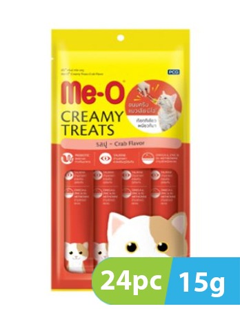 Me-O Creamy Crab Flavor Cat 24pc x 15g