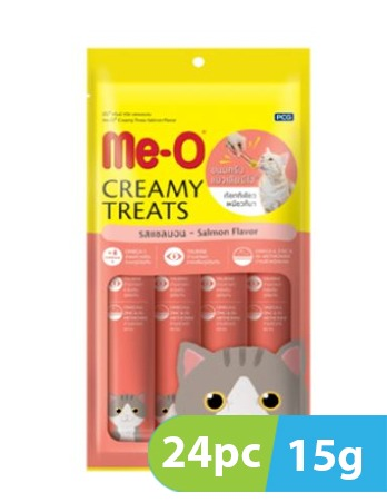 Me-O Creamy Salmon Flavor Cat Treat 24pc x 15g