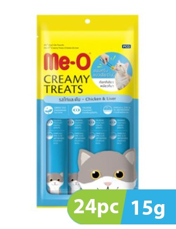 Me-O Creamy Treats Chicken & Liver Cat Treats 24pc x 15g