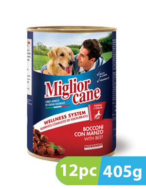 Migliorcane Chunks with Beef 12pc x 405g