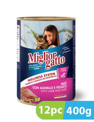 Migliorgatto Pate with Lamb and Liver 12pc x 400g