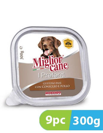 Migliorcane I Preferiti Tasty Pate with Rabbit and Chicken 9pc x 300g