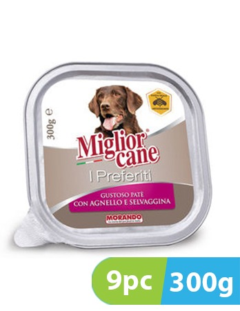 Migliorcane I Preferiti Tasty Pate with Lamb and Game 9pc x 300g