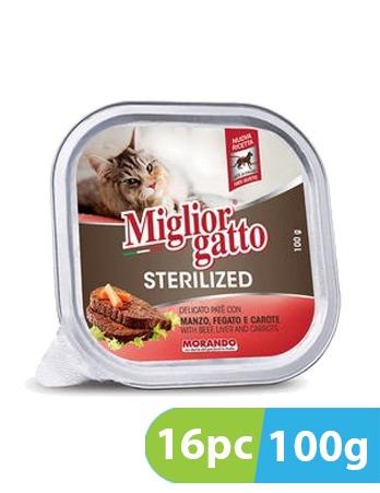 Migliorgatto Delicato Pate with Beef, Liver and Carrots 16pc x 100g
