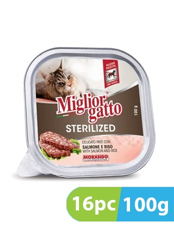 Migliorgatto Delicate Pate with Salmon and Rice 16pc x 100g