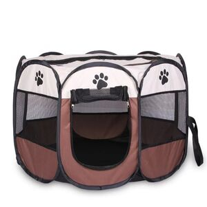 Portable Folding Pet Tent Brown