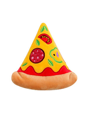 Pizza Squeaky Plush Toy