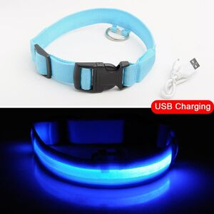USB Charging Collar Blue XXL